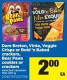 Dare Breton - Vinta - Veggie Crisps Or Bold 'N Baked Crackers - Bear Paws Cookies Or Crackers - 100-270 g