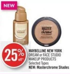 Maybelline New York Dream or Face Studio Makeup Products