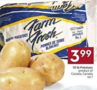 10 Lb Potatoes Product of Canada - Canada No 1