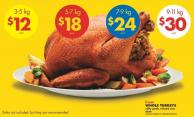 Whole Turkeys - 3-5 Kg