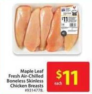 Maple Leaf Fresh Air-chilled Boneless Skinless Chicken Breast