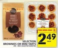 Selection Brownies Or Mini Tarts