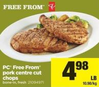 PC Free From Pork Centre Cut Chops