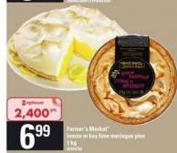 Farmer's Market Lemon Or Key Lime Meringue Pies - 1 Kg