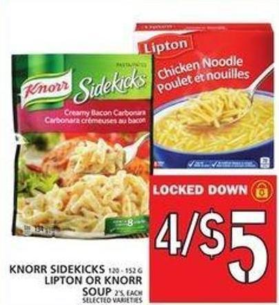 Knorr Sidekicks Or Lipton Or Knorr Soup