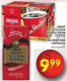 Eight O'clock Whole Bean Coffee Or Tim Hortons Capsules