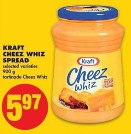 Kraft Cheez Whiz Spread - 900 G