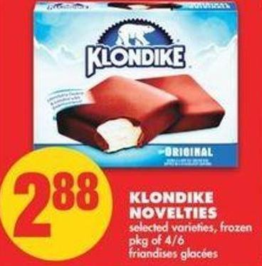 Klondike Novelties - Pkg Of 4/6