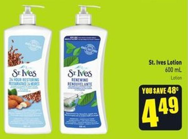 St. Ives Lotion 600 mL