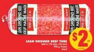 Lean Ground Beef Tube - 908 g