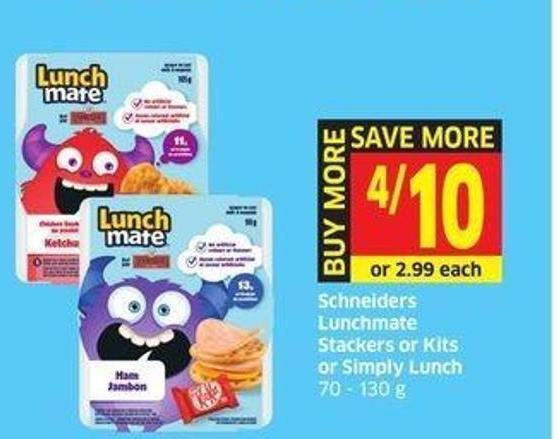 Schneiders Lunchmate Stackers or Kits or