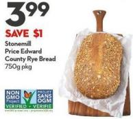 Stonemill  Price Edward  County Rye Bread  750g