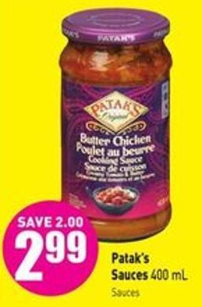 Patak's Sauces 400 ml