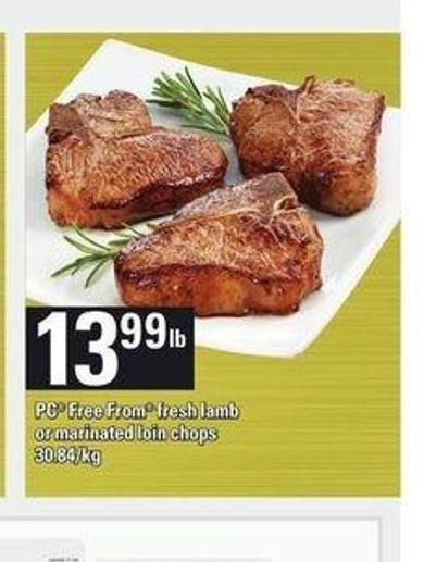 PC Free From Fresh Lamb Or Marinated Loin Chops