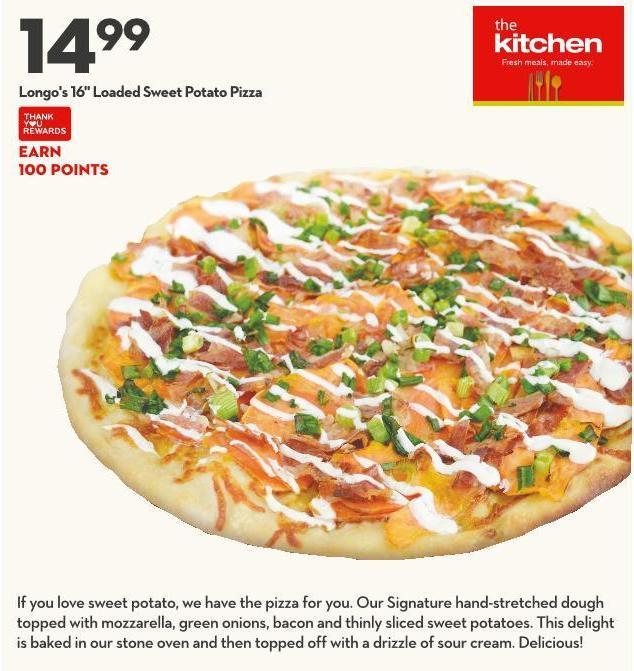 Longo's 16in Loaded Sweet Potato Pizza