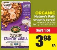 Organic Nature's Path Organic Cereal - 300 g