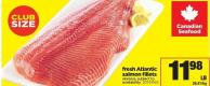 Fresh Atlantic Salmon Fillets Skinless