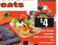Halloween Design Cupcakes White Or Chocolate - 6's
