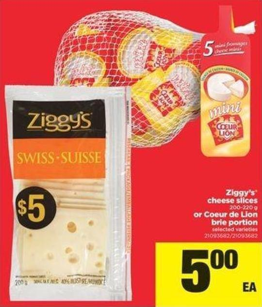 Ziggy's Cheese Slices - 200-220 G Or Coeur De Lion Brie Portion
