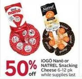 Iogö Nanö or Natrel Snacking Cheese