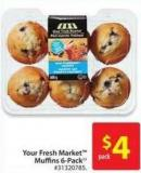 Your Fresh Market Muffins 6-pack