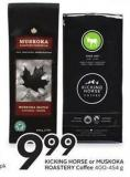 Kicking Horse or Muskoka Roastery Coffee 400-454 g