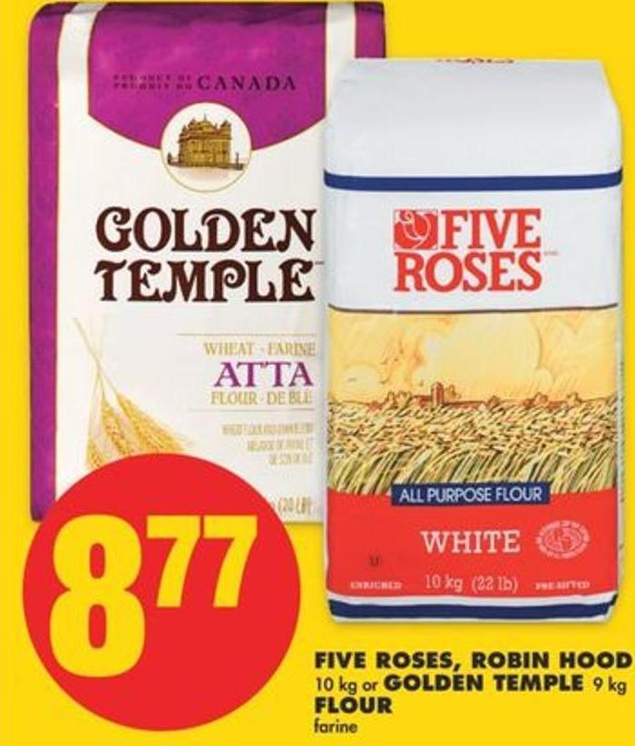Five Roses - Robin Hood - 10 Kg Or Golden Temple - 9 Kg Flour