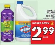 Clorox Bleach Or Pine-sol