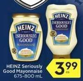 Heinz Seriously Good Mayonnaise 675 – 800 ml