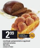 Sourdough - Pumpernickel Or Egg Bread - 450-675 g