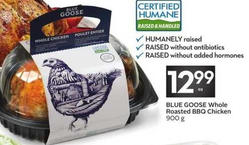 Blue Goose Whole Roasted Bbq Chicken