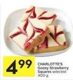 Charlotte's Gooey Strawberry Squares Selected 400 g