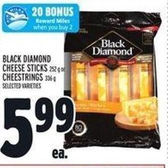 Black Diamond Cheese Sticks 252 g Or Cheestrings 336 g