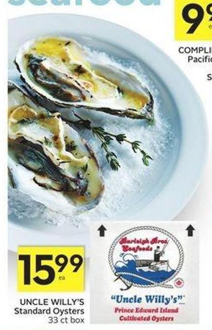 Uncle Willy's Standard Oysters