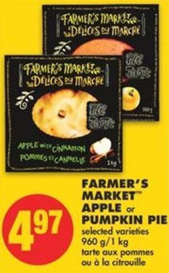 Farmer's Market Apple or Pumpkin Pie - 960 G/1 Kg