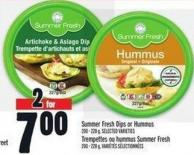 Summer Fresh Dips Or Hummus 200 ‑ 228 g