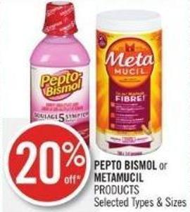 Pepto Bismol or Metamucil   Products