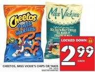Cheetos - Miss Vickies Chips Or Takis