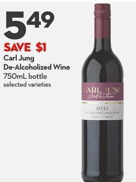 Carl Jung De-alcoholized Wine 750ml Bottle