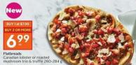 Flatbreads Canadian Lobster or Roasted Mushroom Trio & Truffle 260-284 g
