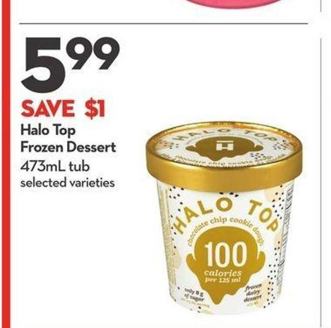 Halo Top Frozen Dessert