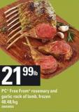 PC Free From Rosemary And Garlic Rack Of Lamb
