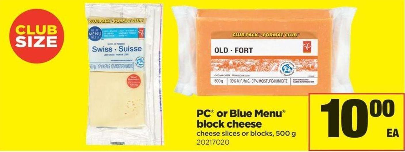 PC Or Blue Menu Block Cheese - 500 G