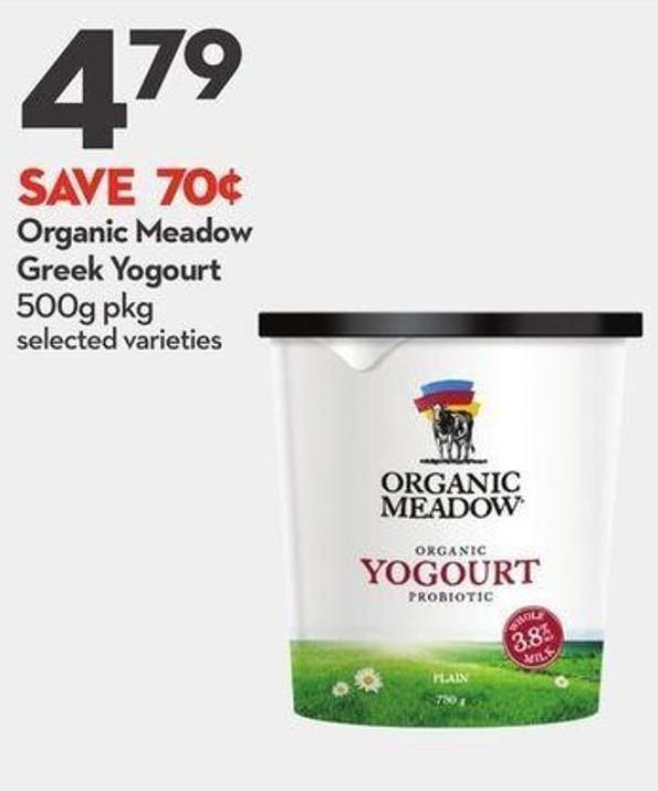 Organic Meadow Greek Yogourt