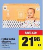 Hello Bello Diapers - 54-108's