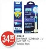 Oral-b 500 Power Toothbrush (1's) or Refills (5's)