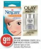 Nexcare 3m Acne Absorbing Covers (36's) - Olay Masks or Facial Cleansers