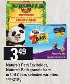 Nature's Path Envirokidz - Nature's Path Granola Bars Or Clif Z Bars - 144-210 G