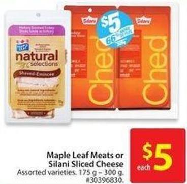 Maple Leaf Meats or Silani Sliced Cheese