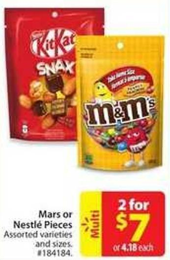 Mars or Nestlé Pieces